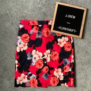 🆕LISTING 🌺J. CREW Red/Pink Floral Pencil Skirt